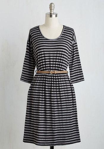 Fab Fundamentals Dress in Stripes