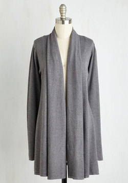 Comfy My Way Cardigan in Grey