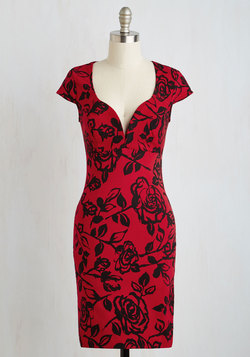 For a Good Cosmo Dress in Crimson