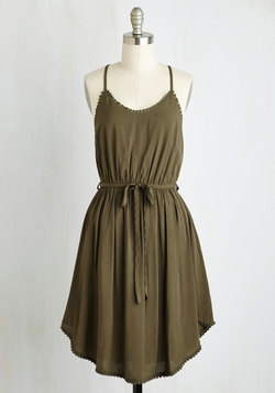 Right to Delight Dress in Olive