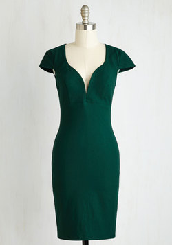 For a Good Cosmo Dress in Forest Green