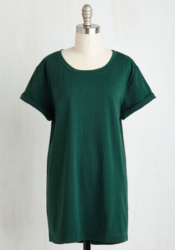 Simplicity on a Saturday Tunic in Forest Green