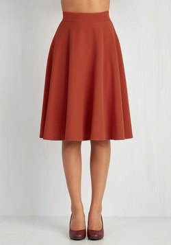 Bugle Joy Skirt in Rust