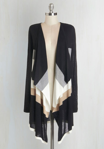 Fall Foliage Tour Cardigan in Dusk - Black, Long Sleeve, Black, Pink, Grey, White, Casual, Colorblocking, Long Sleeve, Fall