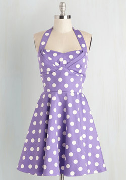 Traveling Cupcake Truck Dress in Violet