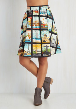 Around the World in Katie Days Skirt