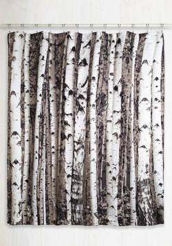Beyond the Grove Shower Curtain in Birch