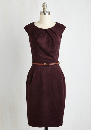 Teaching Classy Dress in Plum