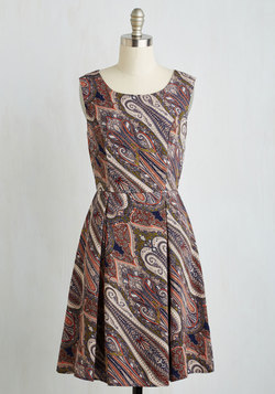 I Rest My Grace Dress in Swirls