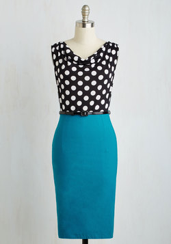 Profesh Opinion Dress in Teal