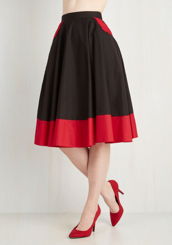 Every Bewitch Way Skirt - Fall, Cotton, Woven, Better, Black, Black, Solid, Halloween, Full, Pockets, Long