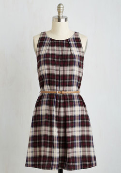 Great Wavelengths Dress in Plaid