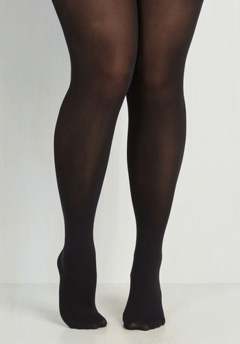 Miles of Style Tights in Plus Size by Pretty Polly - Black, Solid, Special Occasion, Prom, Party, Work, Cocktail, Girls Night Out, Holiday Party, International Designer, Fall, Best Seller, Best Seller, Winter