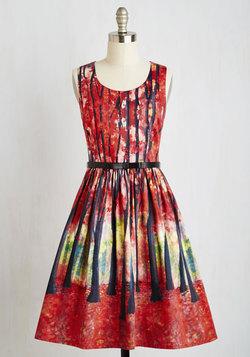 Festive Frondescence Dress