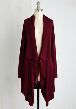 Swishin' and Hopin' Cardigan in Merlot