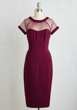 Flair for Fabulous Dress in Bordeaux