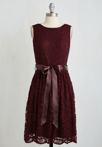 Lovely as Lychee Dress in Wine