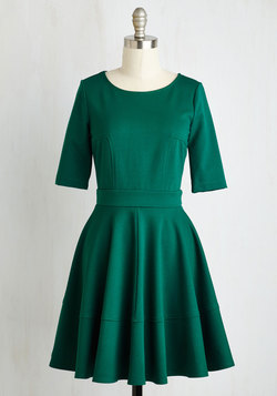 Dote Worry About It Dress in Emerald