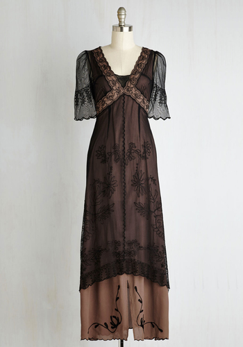 Walking on Era Dress in Noir $199.99 AT vintagedancer.com