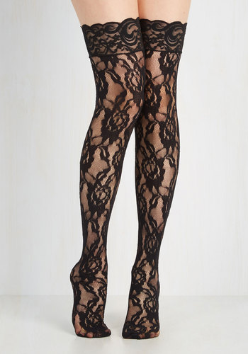 In Lace In Love Thigh Highs $14.99 AT vintagedancer.com