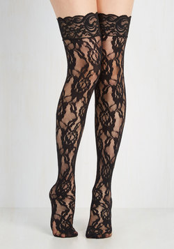 In Lace, In Love Thigh Highs