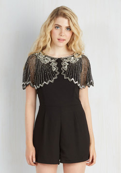 And the Shimmer Is Romper in Raven