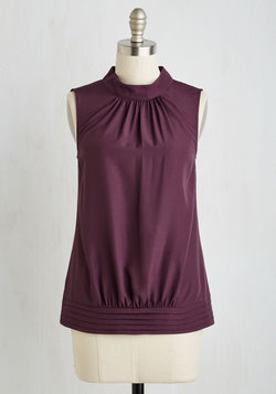 Midtown Magnificence Top in Plum