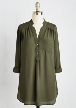 Pam Breeze-ly Tunic in Olive