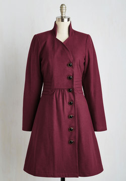 Outdoor Orchestra Coat in Berry