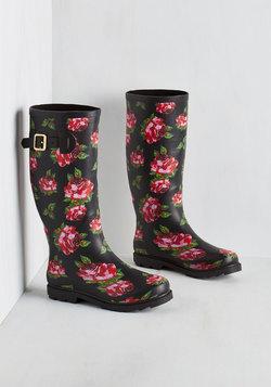 Splash of Panache Rain Boot in Roses