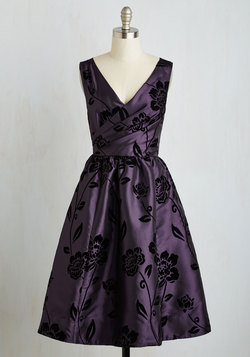 Posh at the Party Dress in Plum