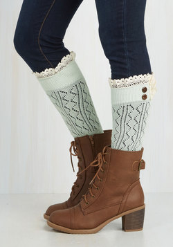 Overheard in Williamsburg Boot Cuffs in Mint