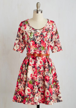 Abiding Beauty Dress in Pink Floral