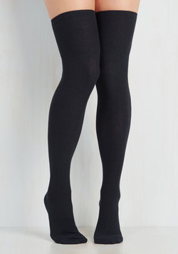 All in Alcove Thigh Highs in Navy