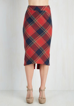 Scholar ID Skirt in Red