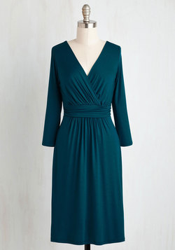 In Opportune With the Times Dress in Teal