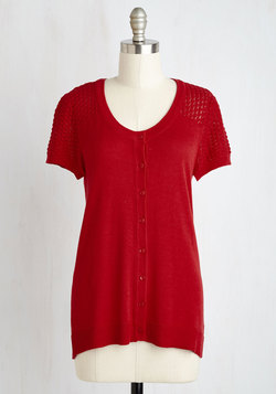 Leave Knit to Me Cardigan in Red