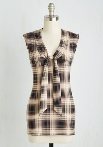 Housewarming Your Home Top in Muted Plaid $54.99 AT vintagedancer.com