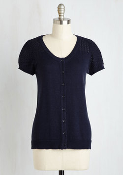 Leave Knit to Me Cardigan in Navy