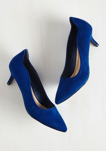 Bevvies on Me Heel in Blueberry