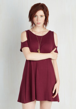 Chics for Itself Dress in Burgundy