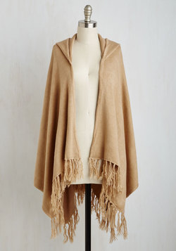 Upstate Swank Shawl in Tan