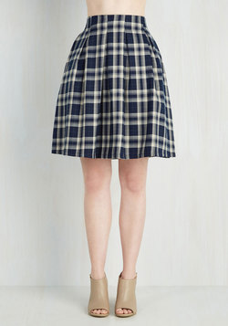 Sweet and Tartan Skirt in Ivory