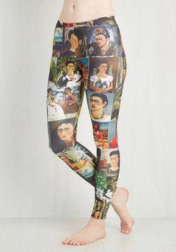 Imaginative Merriment Leggings in Frida Portraits