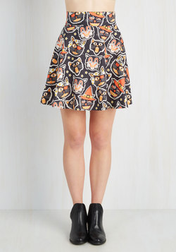 Feeling Playful Skirt in Festive Felines