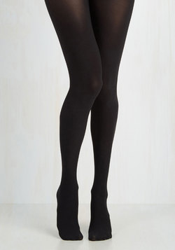 Reliably Chic Tights in Noir