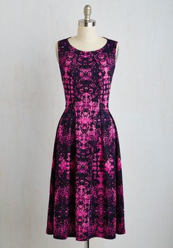Liven Up the Night Dress in Magenta Blooms