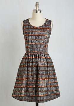 Typographic Designer Dress
