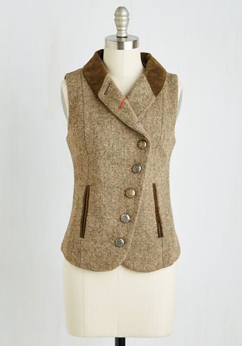 Tweed-ing Lady Vest $79.99 AT vintagedancer.com