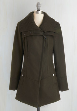 Diagonal Alley Coat in Olive